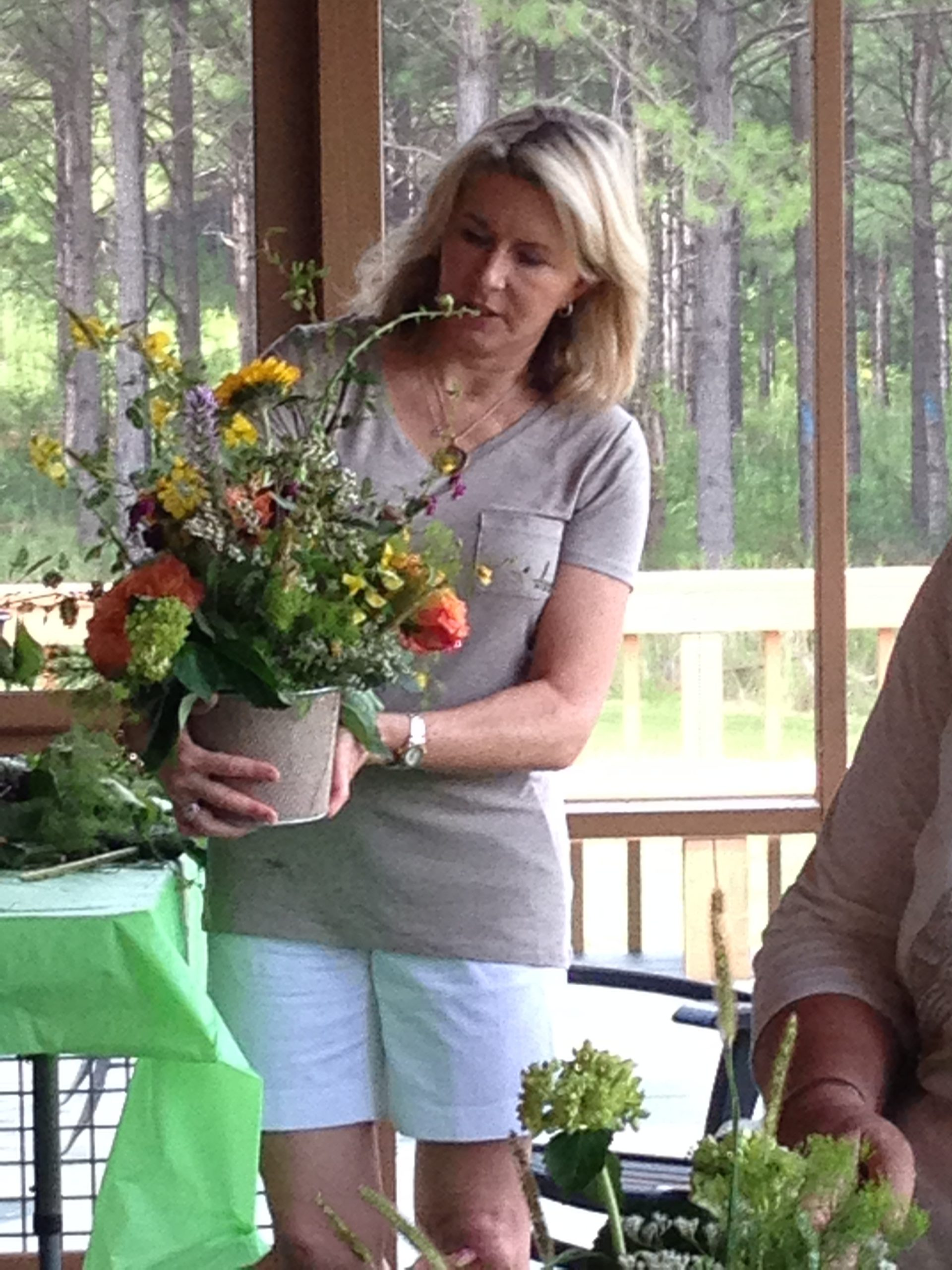 Flower Arranging in the Woods