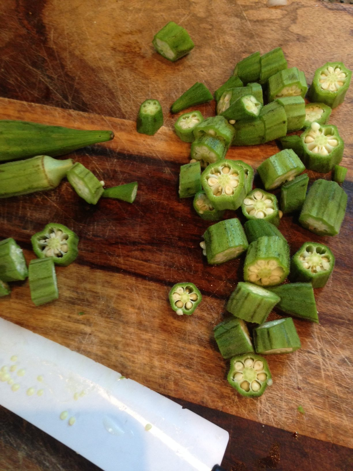 Summer Heirlooms.  Obie's Okra Recipe.