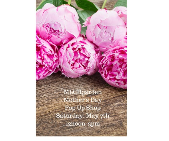 MLCHgardenMother's DayPop Up ShopSaturday, May 7th12noon-3pm