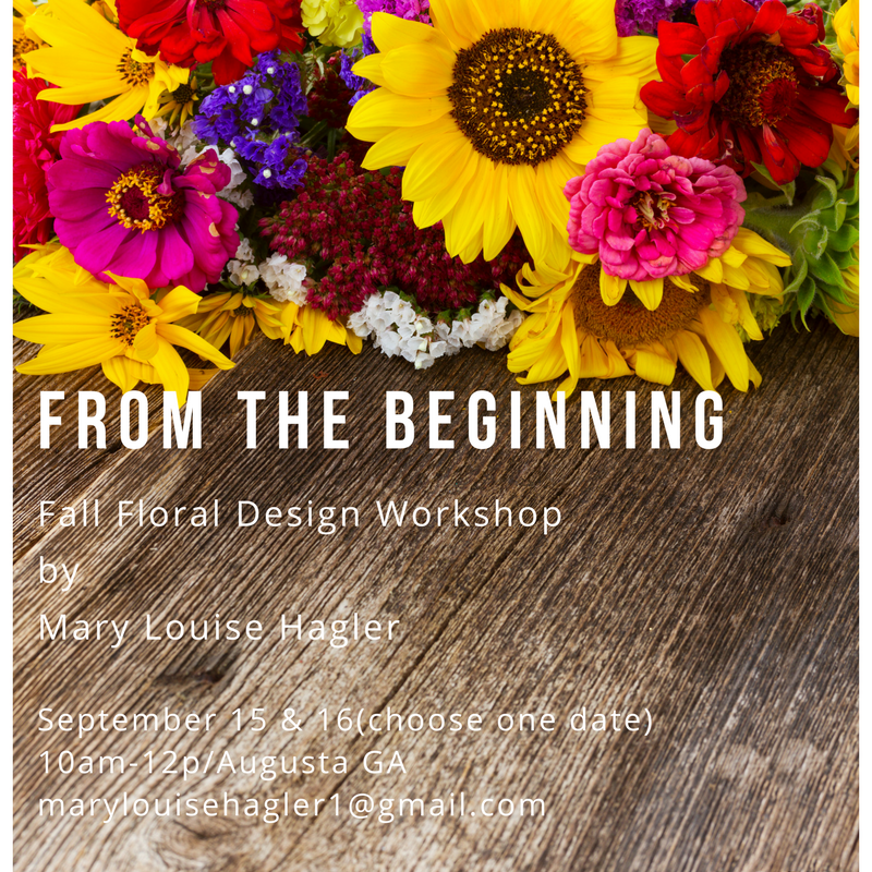 From the Beginning Fall Flower Workshop